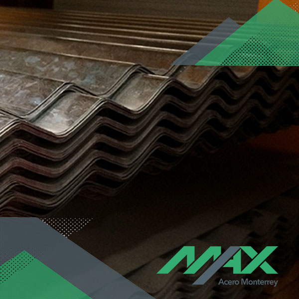 Lámina acanalada O-100 zintro Ternium Max Acero Monterrey