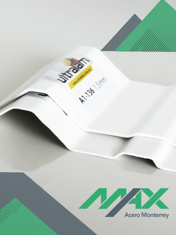 Lámina de pvc termo acústica unicapa Max Acero Monterrey