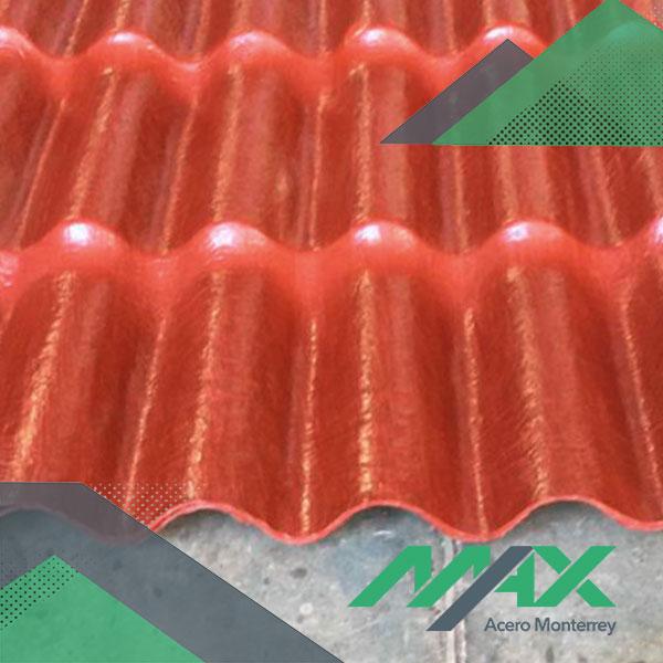 Lámina plastiteja para techos; venta de lámina con apariencia de teja tradicional elaborada con polietileno.