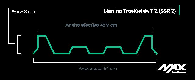 perfil-lamina-traslúcida-T2-(SSR-2)-MaxAceroMonterrey