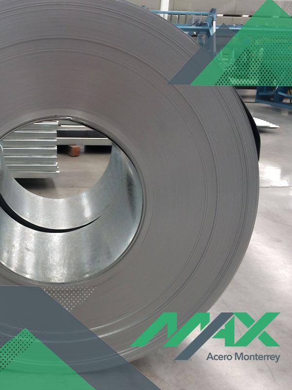 Rollo de acero zintroalum; lámina recubierta en rollos de 3 y 4 pies de ancho, marca Ternium.
