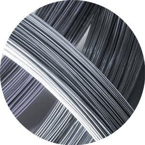 Alambre galvanizado de acero recubierto de zinc.